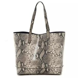 Cole Hann Palermo Snakeskin Leather Tote Bag